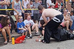 Keystone State Wrestling Alliance - Kris Kash battling Lou Martin at Millvale Days