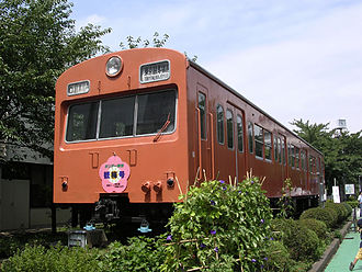 101 series - KuMoHa 101-902 at Tokyo General Rolling Stock Center, August 2005