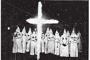 Ku Klux Klan in Canada - A Klan cross-burning ceremony in London, Ontario, in late 1925