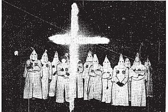 Ku Klux Klan in Canada - A Klan cross-burning ceremony in London, Ontario, in late 1925