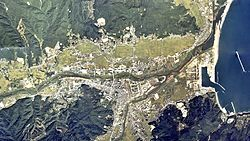 Kuji city center area Aerial photograph.1977.jpg