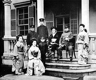 Prince Kuni Kuniyoshi - 1920, Prince Kuni and his family
