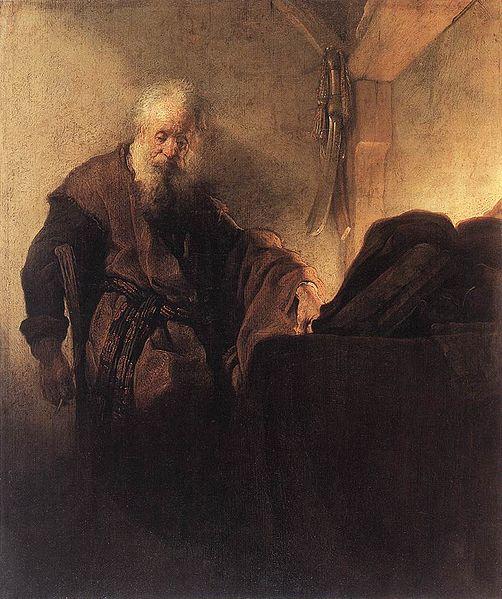 File:L'Apôtre Paul à sa table de travail.jpg