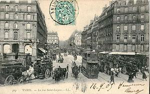 Rue Saint-Lazare - Image: LL 307 PARIS La rue Saint Lazare