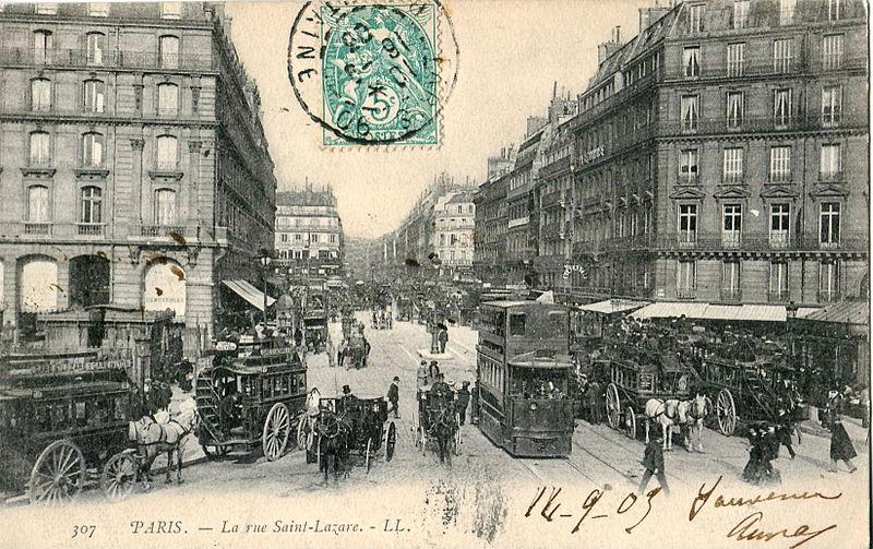 Fichier:LL 307 - PARIS - La rue Saint-Lazare.JPG