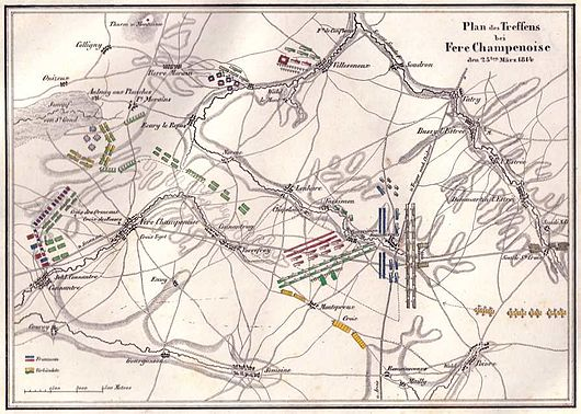 German map of the Battle of Fere-Champenoise