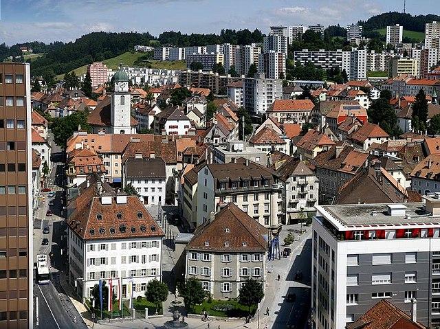 Stadt La Chaux-de-Fonds, Schweiz