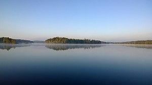 Hartola, Finland - Lake Salajärvi in Lepsala Village, Hartola, Finland