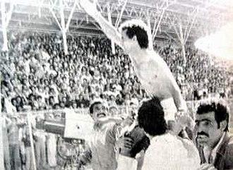 Lakhdar Belloumi - Lakhdar Belloumi, Algerian champion with GC Mascara 1984