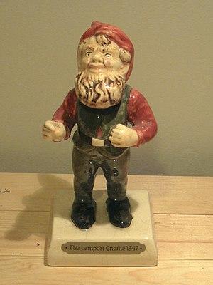 A replica of Lampy the Lamport Gnome