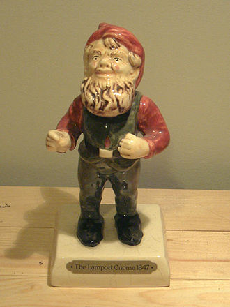 Garden gnome - Replica of Lampy, Charles Isham's 1847 terracotta gnome from Germany