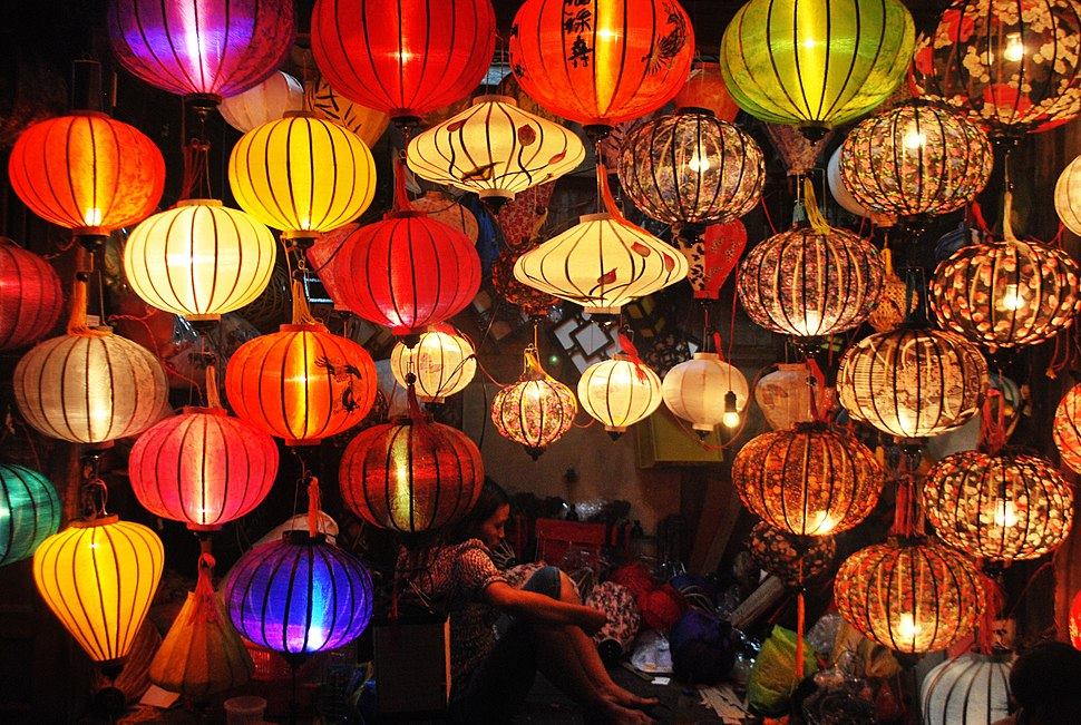 Lampshades, Night Market, Laos