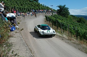 Marcello Gandini - Gandini's iconic Lancia Stratos in a WRC rally