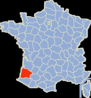 Communes of the Landes department - Image: Landes Position