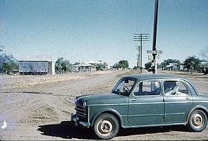 McKinlay, Queensland - The Landsborough Highway through McKinlay in 1962.