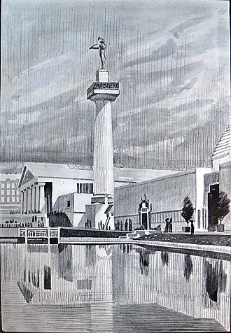 Lur Blowers - Carlsberg's victory column seen in an illustration from Illustreret Tidende
