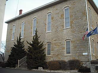 1867 Manhattan, Kansas earthquake - In Lecompton, a building at Lane University (pictured) shook from the earthquake.