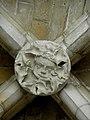 Laon (02) Cathédrale Notre-Dame Intérieur Clef de voûte 01.JPG