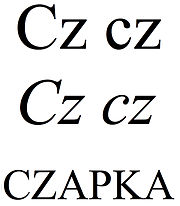 "Latin small and capital letter ""cz"".jpg"