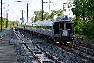 Frank Lautenberg - Lautenberg's funeral train passes Odenton, Maryland.