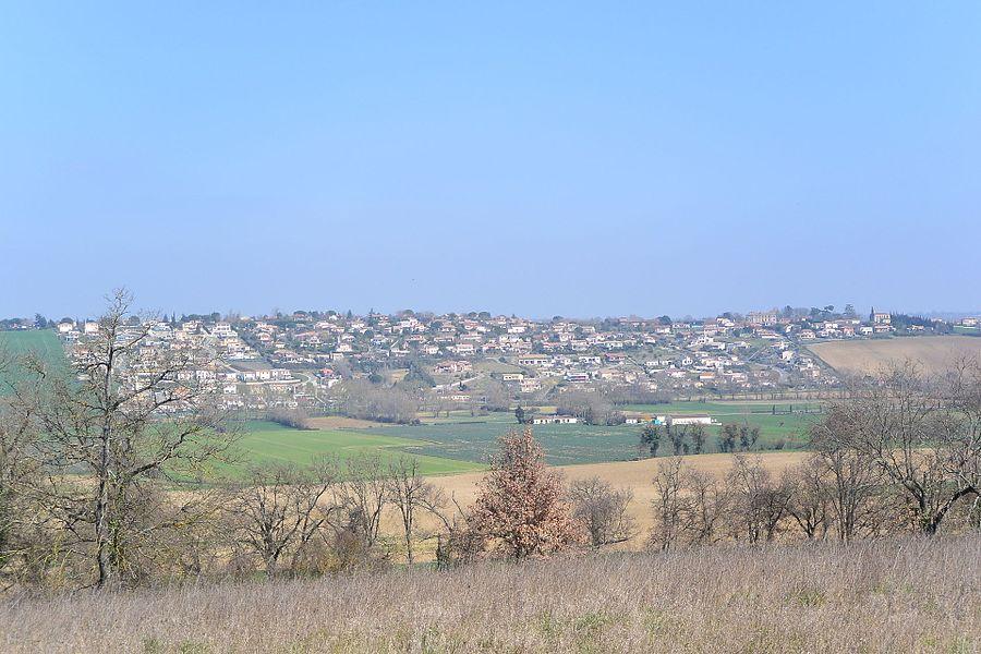 Lauzerville , F 31650. Photo prise depuis Saint-Orens-de-Gameville (43.545157N / 1.547270E)