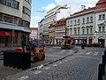 Lazarská a Vodičkova, rekonstrukce tramvajové trati.jpg