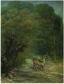 Le Chevreuil chassé aux écoutes, printemps by Courbet MO.png