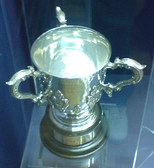 Football League Cup trophy at the Old Trafford...