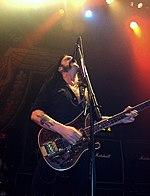 Lemmy Kilmister, chanteur du groupe Motörhead