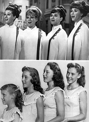 The Lennon Sisters - Lennon Sisters in 1969 and 1955. 1969, from left: Kathy, Janet, Peggy and Dianne. 1955, from left: Janet, Kathy, Peggy, and Dianne.