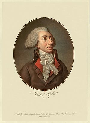 Louis-Michel le Peletier, marquis de Saint-Fargeau - Louis-Michel Lepeletier de Saint-Fargeau, by Garneray, engraved by Alix