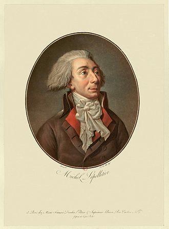 Louis-Michel le Peletier, marquis de Saint-Fargeau - Louis-Michel Lepeletier de Saint-Fargeau, by Garneray, engraved by Alix