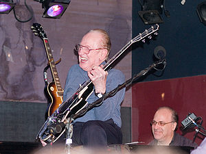 Les Paul with friend.