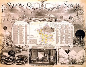Siege of Paris (1870–71) - Balloons escaped from the Siege of Paris