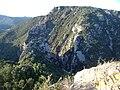 Les gorges du Termenet vues depuis le château de Termes.JPG