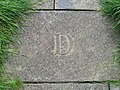 Letter 'D' in St Michael's graveyard path - geograph.org.uk - 720057.jpg