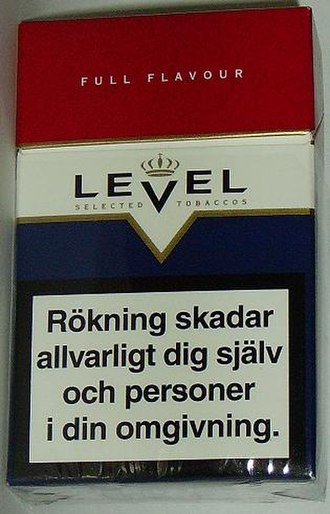 Smoking in Iceland - Example of cigarette packing warning labels