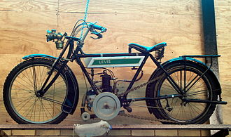 Levis (motorcycle) - A Levis motorcycle with the distinctive belt drive
