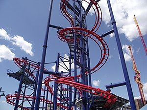 Soarin' Eagle - Image: Lift Soaring Eagle Scream Zone Luna Park Coney Island