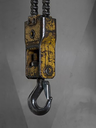 Lifting hook - A lifting hook with a safety latch.