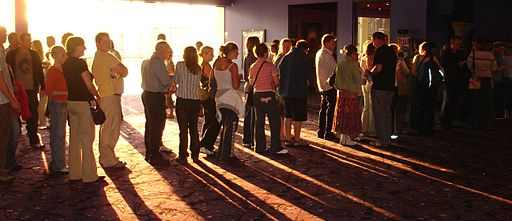 Light on cinema queue