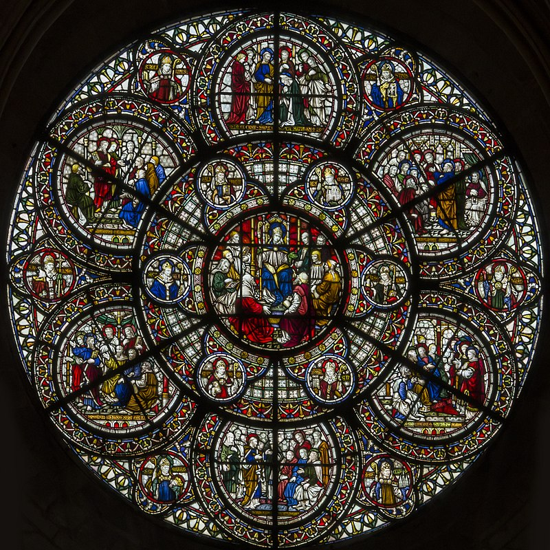 Lincoln Cathedral, Chapter house west window (23166760089).jpg