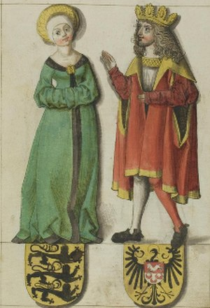 Liudolf, Duke of Swabia - Image: Liudolf of Swabia and his wife Ida