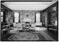Living Room, West, July 1941. - Springwood, Hyde Park, Dutchess County, NY HABS NY,14-HYP,5-28.tif