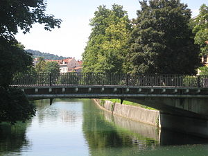 St. Peter's Bridge - St. Peter's Bridge links the residential districts of Šempeter and Poljane.