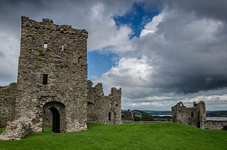 Llansteffan Castle Grade I listed building and site of ancient hillfort in Carmarthenshire