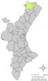 Localització de la Mata respecte del País Valencià.png