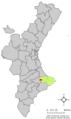 Localització de la Vall d'Alcalà respecte del País Valencià.png