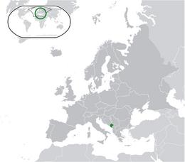 Montenegro - Localizzazione
