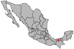 Location of Villahermosa